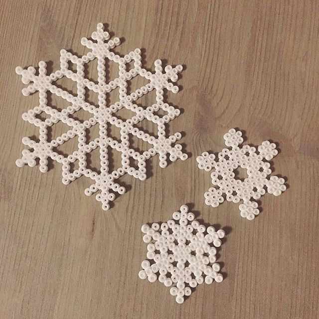 Snowflakes hama beads by monator