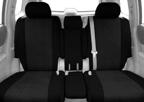 CalTrend Front Row 402040 Split Bench Custom Fit Seat Cover for Select Dodge RAM Models  SportsTex Charcoal Insert with Black Trim * You can get additional details at the image link.