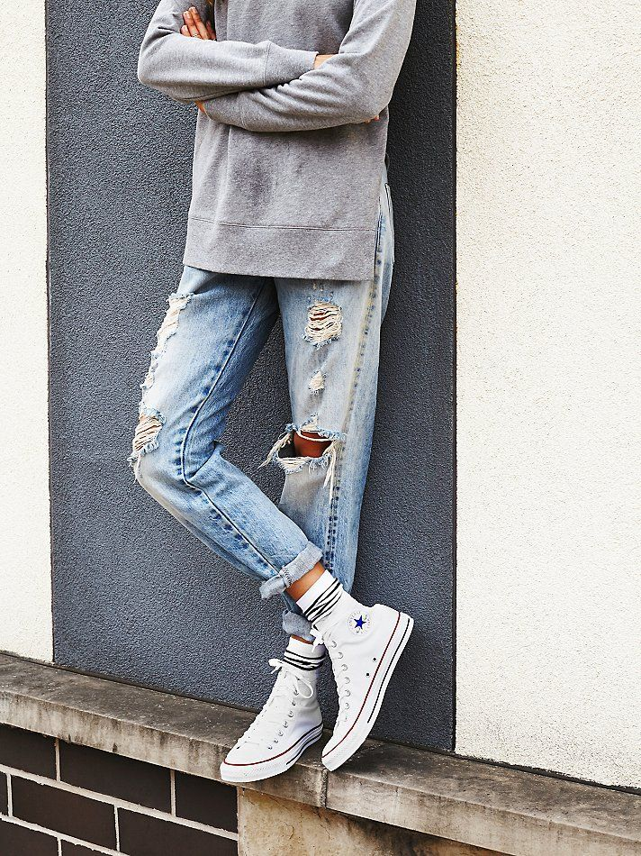 how to wear high top vans with jeans
