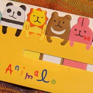 Marcapáginas adhesivos - Animales