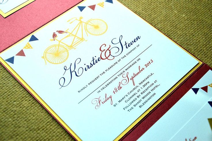 Bicycle built for two Custom Illustration Red