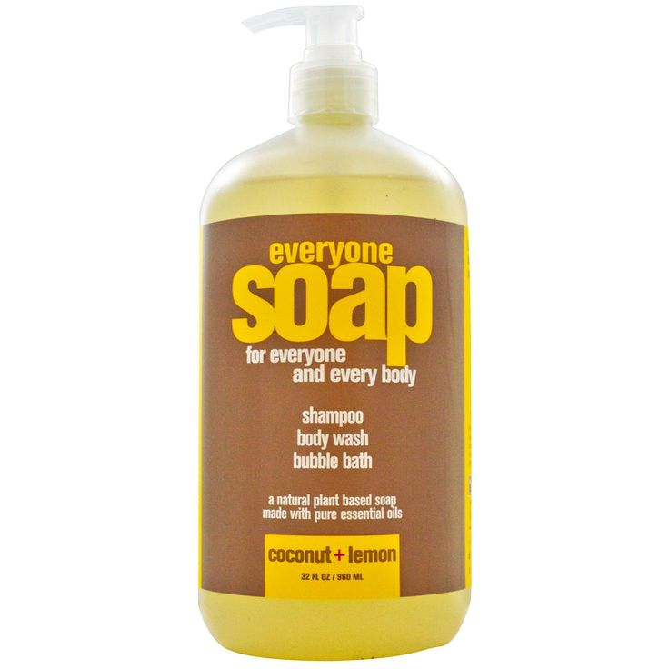 Shampoo, Body Wash and Bubble Bath, Coconut + Lemon, 32 fl oz (960 ml) - I LOVE the smell and the feel of this Discount code QOC222