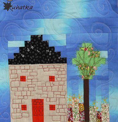 Domek z drzewkiem / House with a Tree - Ula: http://uhatka.blogspot.com/