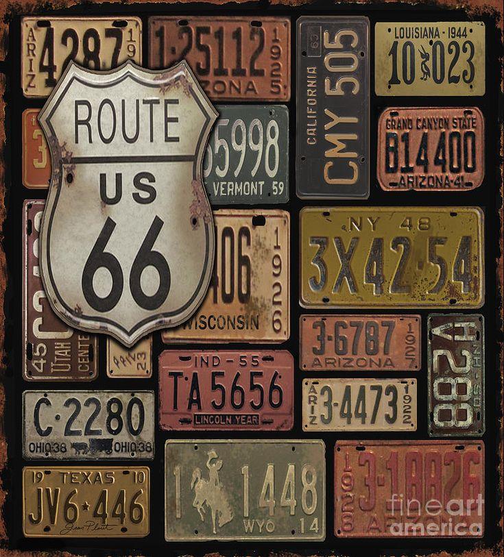 Route 66 Digital Art by Jean Plout