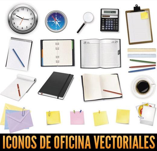 iconos de oficina vectores gratis