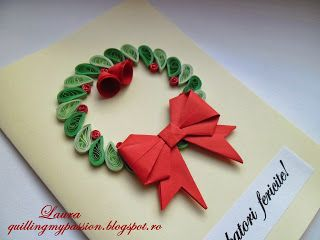 from quilling my passion - a simple yet effective design for Christmas card.