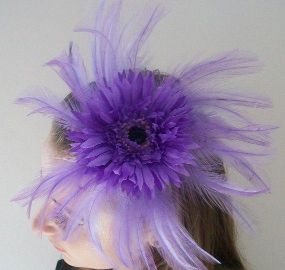 Purple Fascinator Lilac Fascinator Amethyst Fascinator for