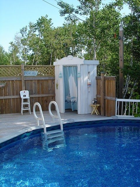 Above ground pool ideas for Pool deck decor ideas
