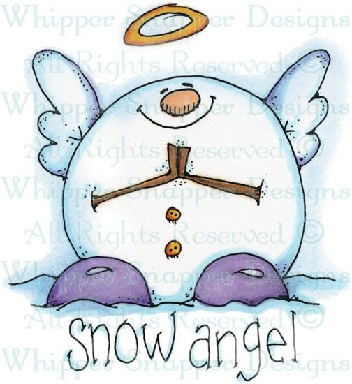 Snow Angel - Angels/Fairies - Rubber Stamps - Shop