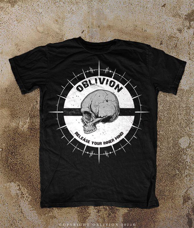 Danger Zone Black T-Shirt Mock Up Sample by Oblivion-design