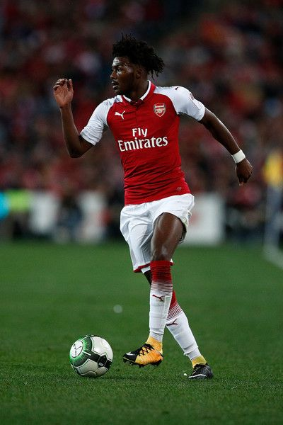 Ainsley Maitland-Niles of Arsenal controls the ball during the match between the Western Sydney Wanderers and Arsenal FC at ANZ Stadium on July 15, 2017 in Sydney, Australia.