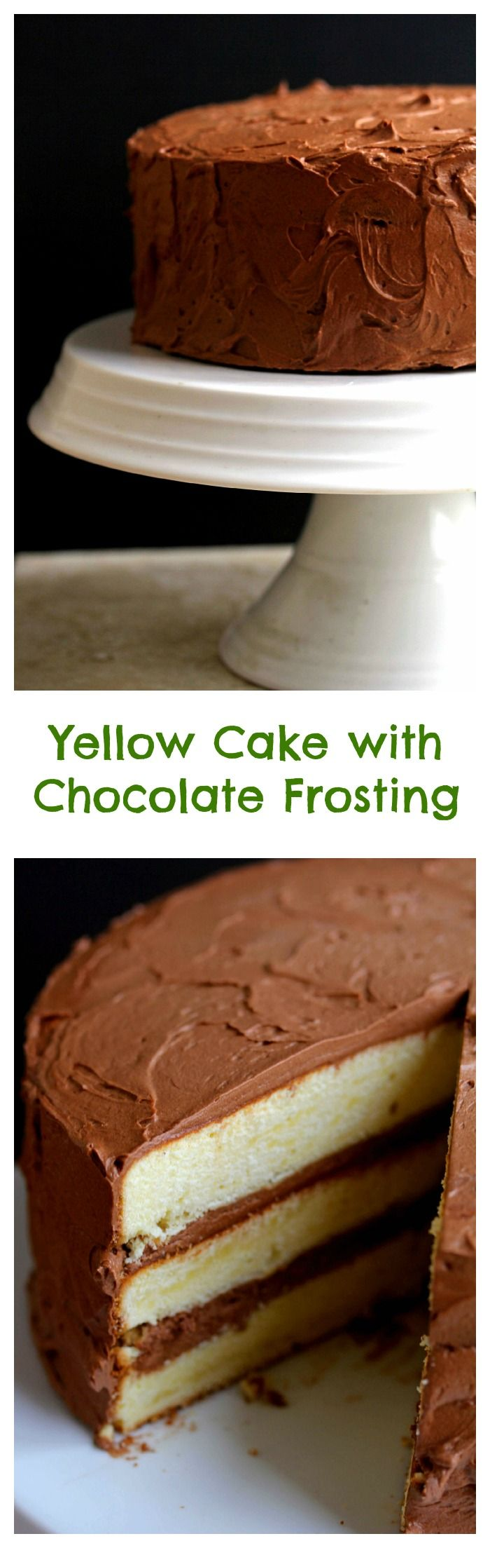 Yellow Cake with Chocolate Frosting | Grandbaby Cakes