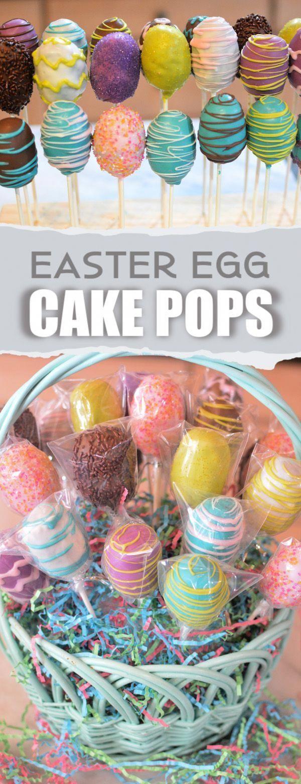 Als Ostereier dekorierte Kuchenbällchen ergeben ein eizelliges Osterdessert! Feucht …,  #al… – Ostereier