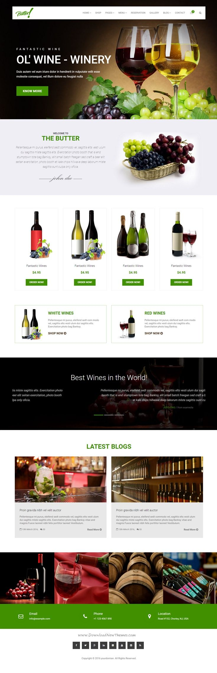 Butter is a Restaurant, Bakery, Coffee, #Winery and Pizza HTML5 Bootstrap theme with 5 Stunning layouts design. It comes with Unique Pages, Awesome Slideshows, Unique Color Variations. Easy-to-customize and fully featured design. Create Outstanding #Website in Minutes! #winestore