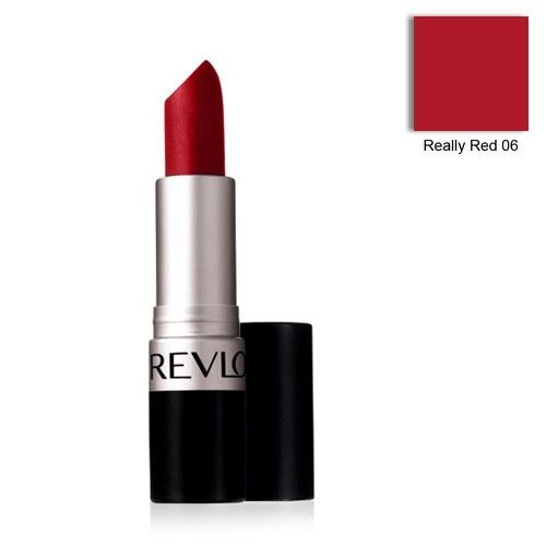"""Revlon Matte lipstick """"Really Red"""" - $6  Matte, very similar texture to MAC's.  This color is also very neutral and flatters everyone!"""