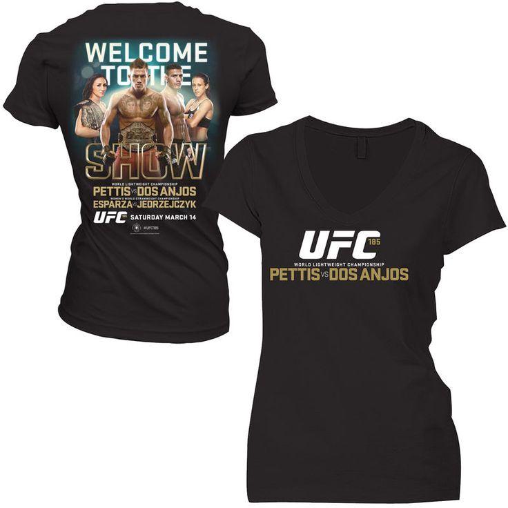 Pettis vs. Dos Anjos Women's UFC 185 Event T-Shirt - Black