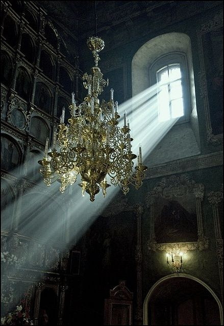 light falling on chandelier To go with Tale of Despereaux Hope still shines in the eyes of this beauty