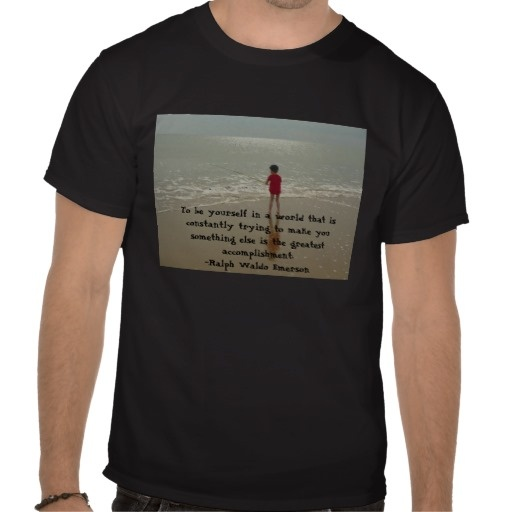 To Be Yourself Men Tees (Black)