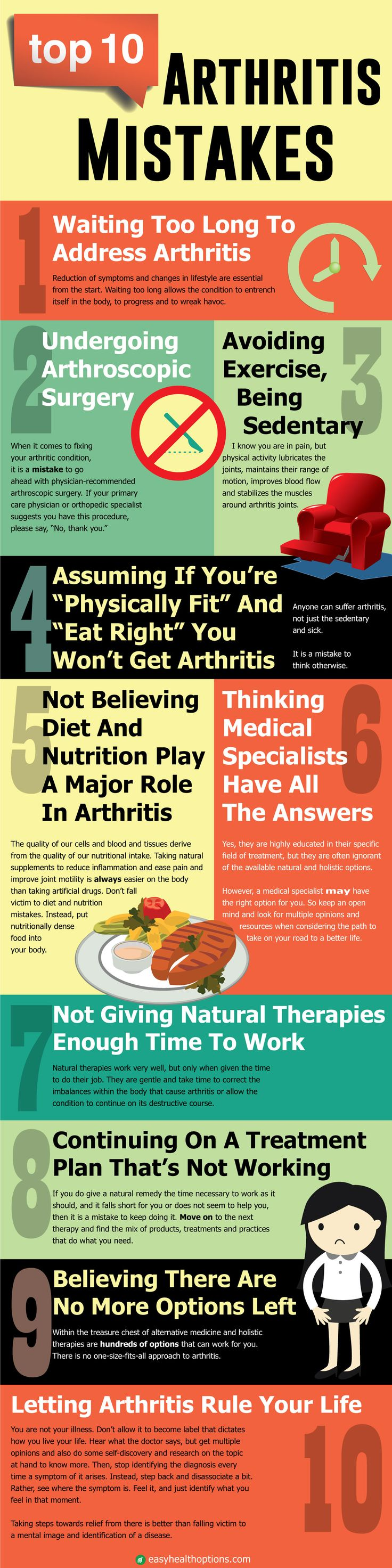 To triumph over arthritis don't make these 10 common mistakes...