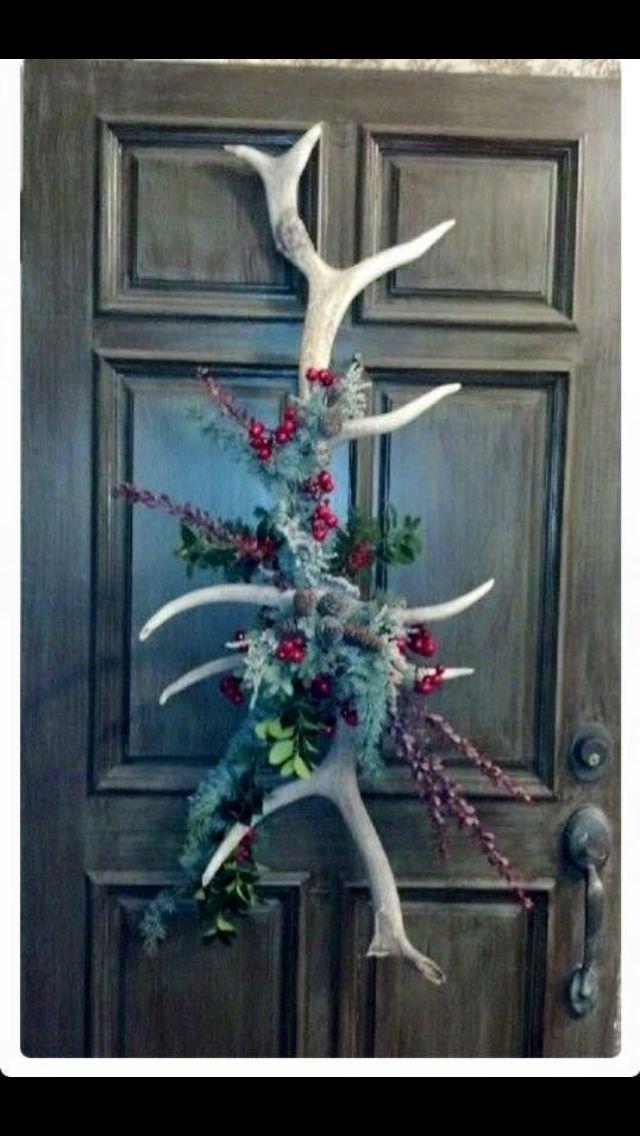 35 best antler christmas trees images on pinterest for Antler decorations for home