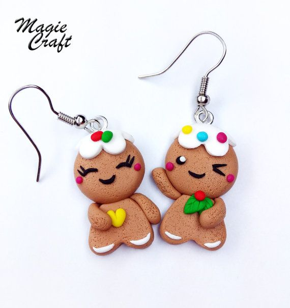 Hey, I found this really awesome Etsy listing at https://www.etsy.com/listing/172178155/orecchini-in-fimo-omini-di-zenzero