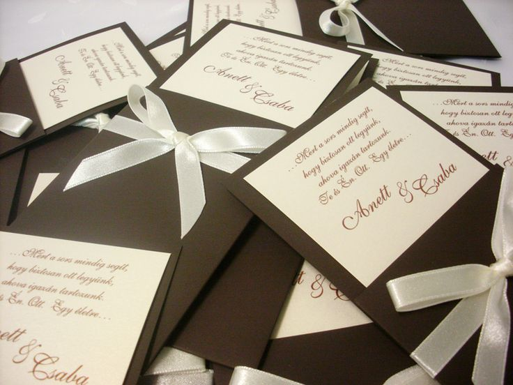 szalagos esküvői meghívó 050.02
