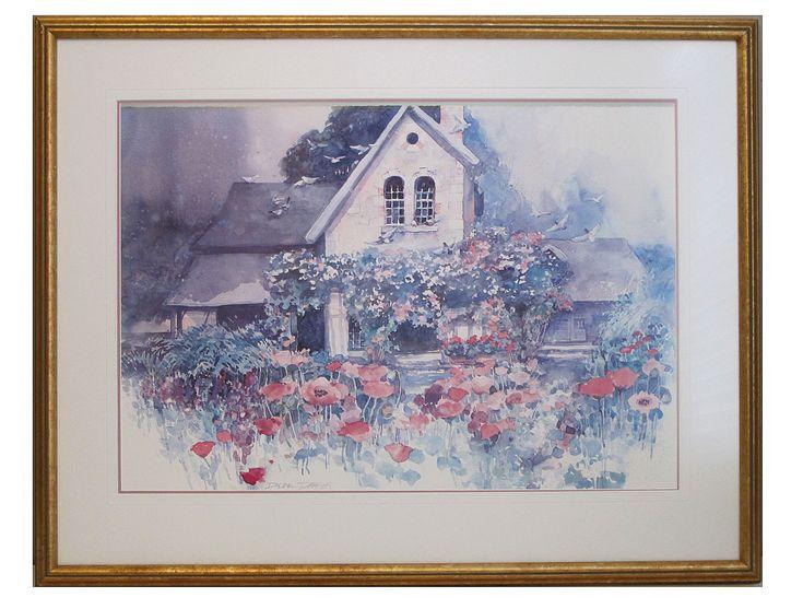 """Framed Print, """"Rose Cottage"""", by Dawna Barton, 1986 $99 CAD"""