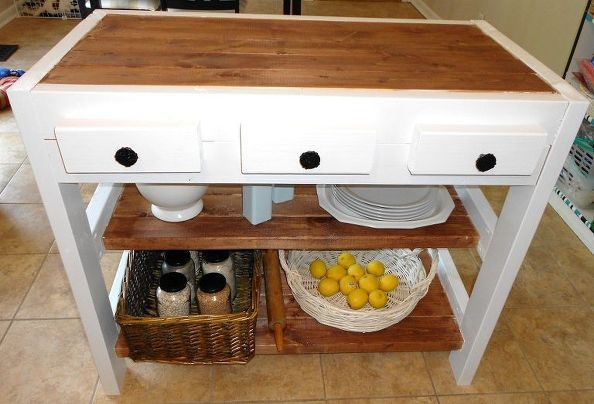 $30 Kitchen Island Made With 2x4s Cat Quilter