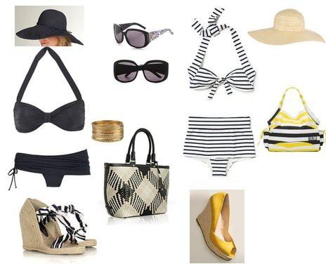 Retro beach outfits