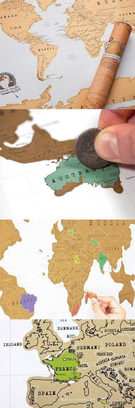 World Scratch Map A classic world map