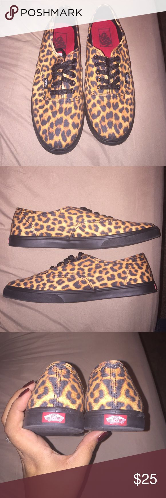 Vans Leopard Print shoes Worn once. They just didn't work for me. Women's 9; men's 7.5. Near perfect condition. Nothing wrong with them. I just never wore them. Vans Shoes Sneakers