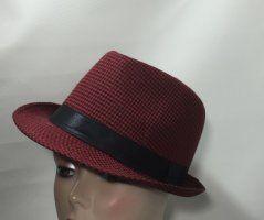 Cotton Trilby - Red & Black Check 57