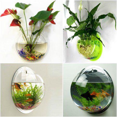 Best 25 vase fish tank ideas on pinterest diy flower for Self cleaning fish tank walmart