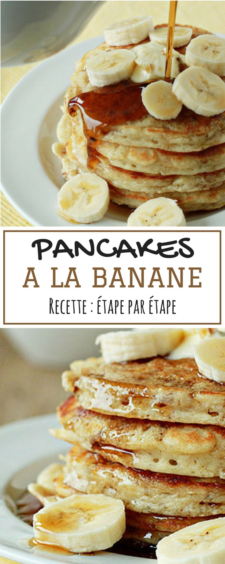 La recette, croyez-le ou non, est adaptée d'un livre de cuisine pour enfants, ce qui prouve la facilité à faire ces pancakes. Pour ma part, je les aime bien avec du miel, mais vous pouvez faire comme vous le souhaitez.