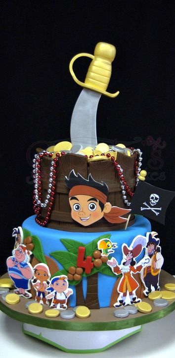 Jake and the Never Land Pirates Cake #Provestra #Skinception #coupon code nicesup123 gets 25% off