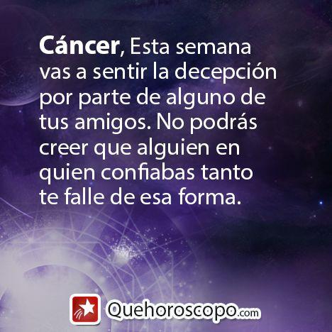 #Horoscopo #Cancer #Amor #Trabajo #Astros #Predicciones #Futuro #Horoscope #Astrology #Love #Jobs #Astrology #Future  http://www.quehoroscopo.com/horoscopodehoy/cancer.html?utm_source=facebooklink&utm_campaign=semanal&utm_medium=facebook
