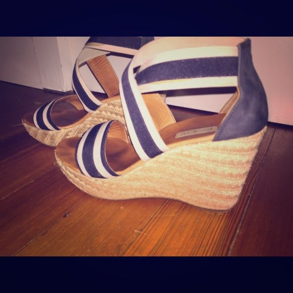 Paul Green. Size 8.5 wedges Paul Green / Navy stretchy wedges. Very comfortable. Paul Green Shoes Wedges