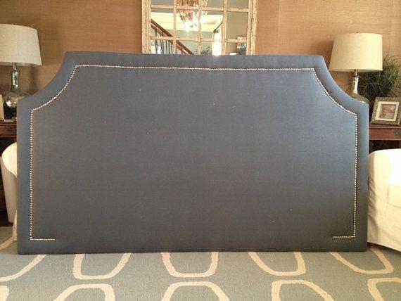 king upholstered headboard gray 1
