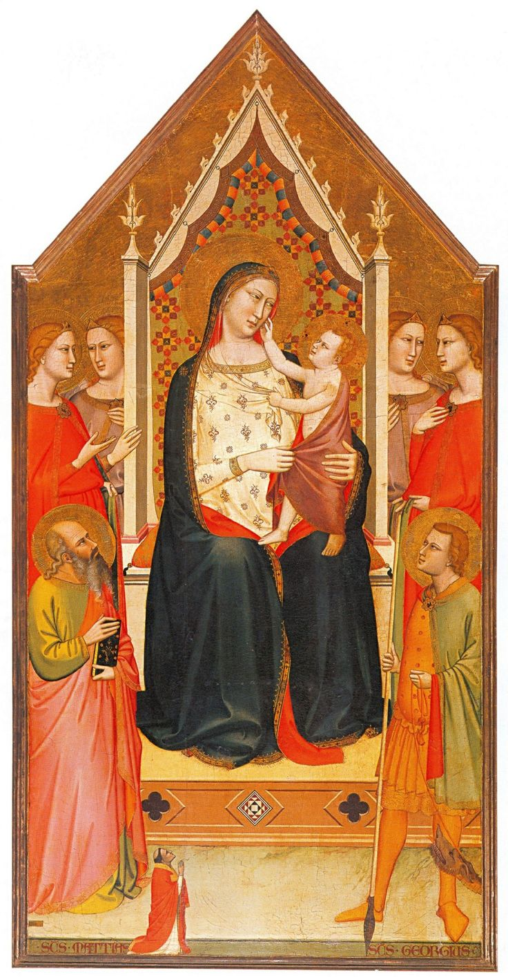 6) 174. Maso di Banco, Madonna col Bambino e angeli, 1336. Ruballa (Firenze), San Giorgio.