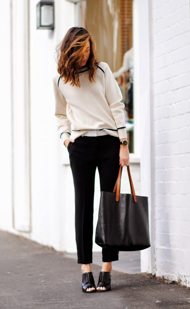 cream sweater, black pants, open toed booties #style Look for Brittany N Bros boutiques at http://www.brittanyandbros.com
