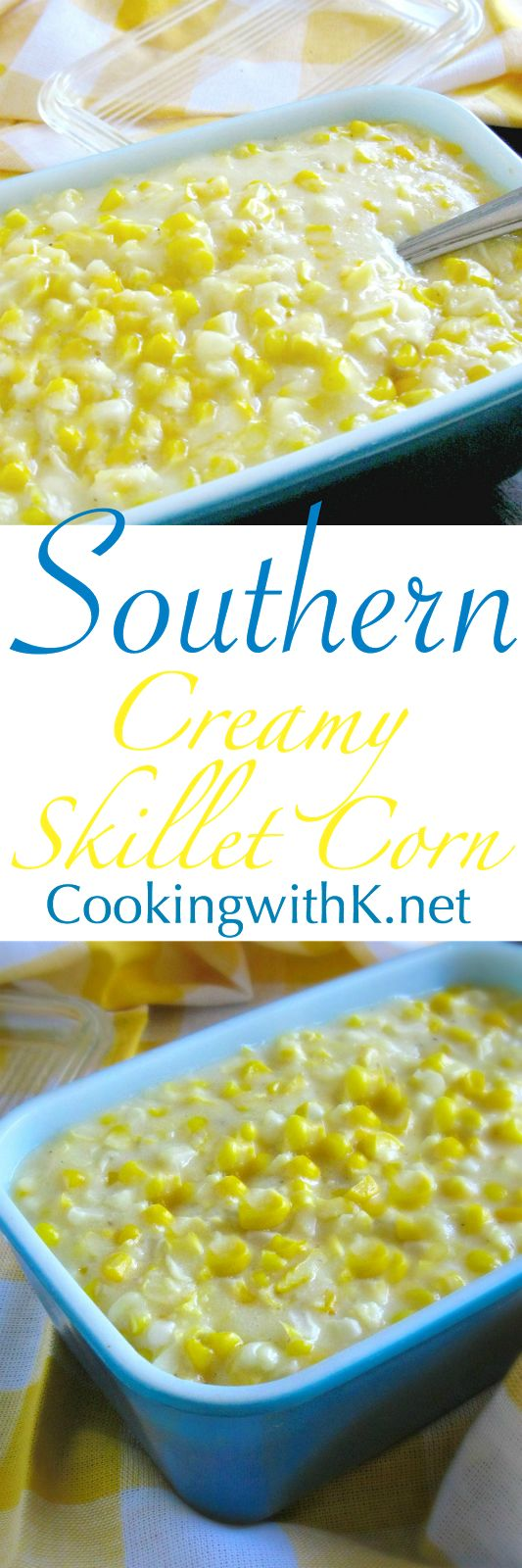 Creamy Skillet Corn is super simple to make with few ingredients and is a great side dish at any gathering.  An extraordinary fresh corn dish that is creamy with a surprising crispiness.