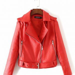 chaqueta-cuero-mujer-rojo