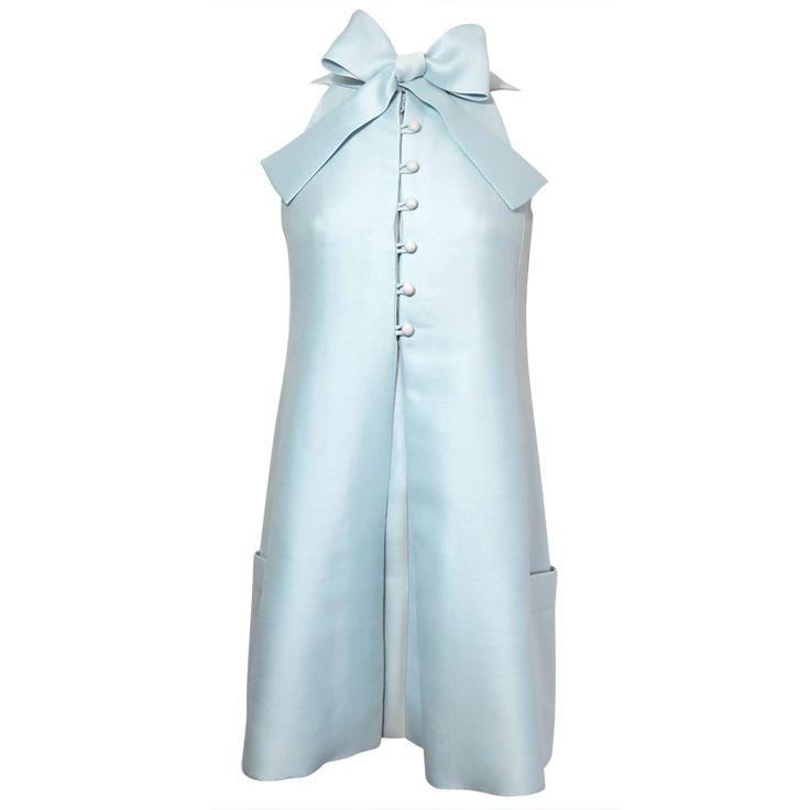 Vintage GEOFFREY BEENE 1960's Celeste silk bow tie dress | 1stdibs.com
