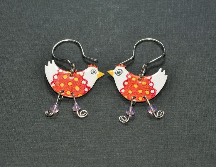 Chicken Earrings - Funny Animal Earrings - $19