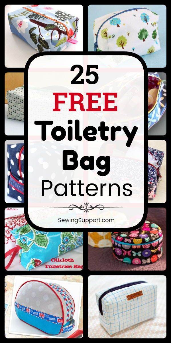 Bag patterns to sew. 25 Free Toiletry Bag Patterns, sewing tutorials, and diy pr…