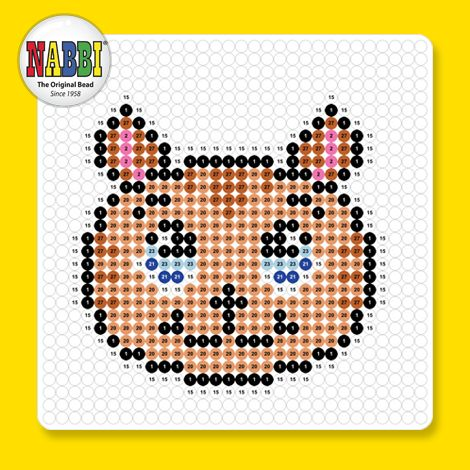 Made with hard melted NABBI ironing beads!   Beads: 458 pcs Refill Colors: 1, 2, 15, 20, 21, 23, 27