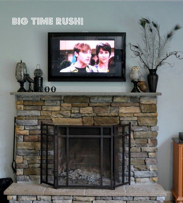 How To Decorate A Mantle With A Tv Above It A Tall Piece