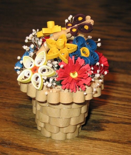How To Make A Quilling Flower Basket : Best quilling d images on