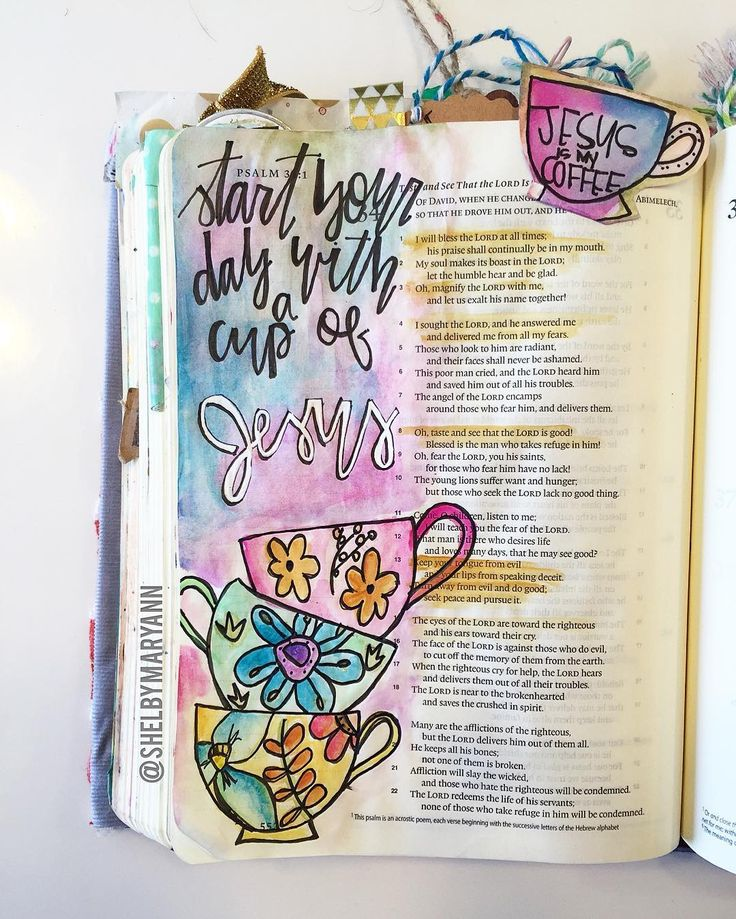 """I remember the days I would just look up a verse in my phone and call it a day. """"I totally spent time with God today."""" . Through #biblejournaling my time with God has been so much more intentional! . This morning I just felt yucky.. I felt in a bad mood and irritated. As I opened up my @shereadstruth app (I'm doing the psalms study until lent ) this verse is TOTALLY what I needed to hear! Verse 13 states """"keep your tongue from evil and your lips from deceit. Turn away from evil and do good…"""