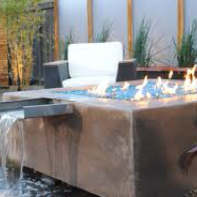 Waterfall Fire Pit Thanks Diy Yard Crashers Outdoor